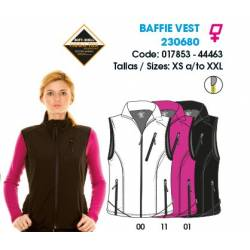 Chaleco con membrana para mujeres, BAFFIE VEST - Soft-Shell