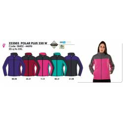 Forro polar para mujeres, POLAR PLUS 330, Techpolar 2 Capas Polar Fleece