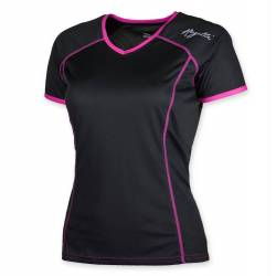Lds Running T-Shirt Miral Black/Pink Mujer