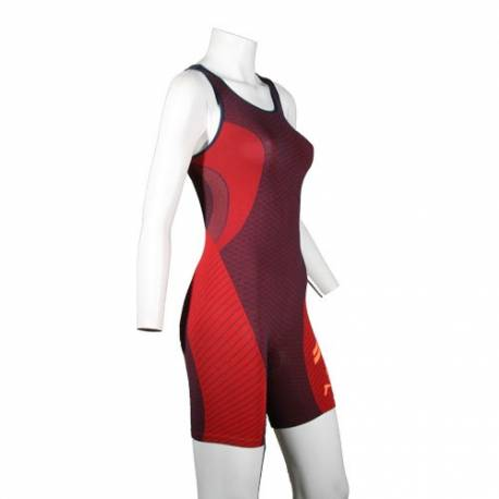 Mono triatlon / duatlon en Lycra y Soft padding mod. Hawaii