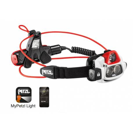 Linterna frontal de haz luminoso múltiple, ultrapotente y recargable - NAO + de Petzl